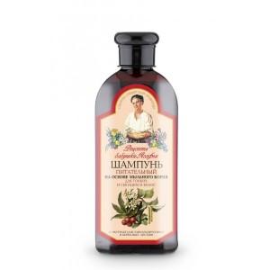 """""""Recepty Babuški Agafji"""" šampūnas maitinantis putoklio šaknies ekstrakto pagrindu ploniems, skilinėjantiems plaukams 350ml"""