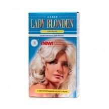 """Šviesintojas plaukams """" Lady Blonden """" super su baltųjų linų fitomilteliais 35 g"""