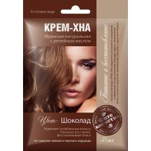 """Plaukų dažai kremas - chna """" Šokoladas """" su varnalėšų al. 50 ml"""