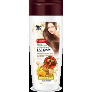 """Balzamas visų tipų plaukams """" Garstyčios """" skatinantis plaukų augimą 270 ml"""