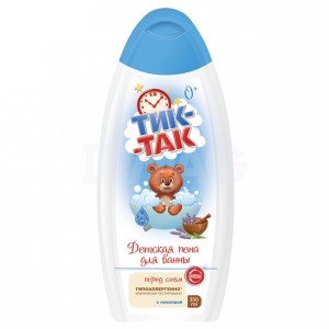 """Vaikiškos putos voniai """" Tik - Tak """" su levanda hipoalerginės 350 ml"""