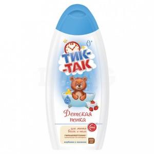 """Vaikiškos putos plaukų ir kūno prausimui braškių """" Tik - Tak """" hipoalerginės 350 ml"""