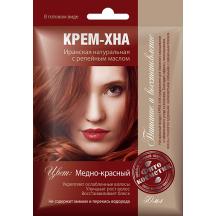 """Plaukų dažai kremas - chna """" Raudonas varis """" su varnalėšų al. 50 ml"""