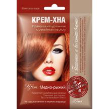 """Plaukų dažai kremas - chna """" Varinis ryžas """" su varnalėšų al. 50 ml"""