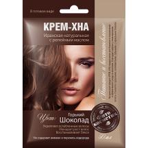 """Plaukų dažai kremas - chna """" Kartusis šokoladas """" su varnalėšų al. 50 ml"""