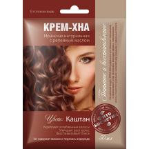"""Plaukų dažai kremas - chna ,"""" Kaštonas """" su varnalėšų al. 50 ml"""