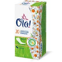 """Kasdieniniai higieniniai įklotai su ramunėlių ir alavijo ekstraktais """" OLA """" 20vnt."""