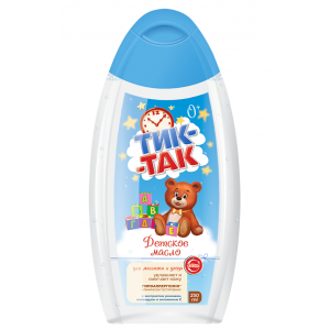 """Vaikiškas aliejus masažui ir odos priežiūrai """" Tik - Tak """" 250 ml"""