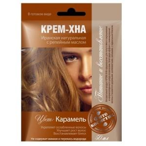 """Plaukų dažai kremas - chna """"  Karamėlė """" su varnalėšų al. 50 ml"""