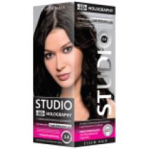 """Kreminiai plaukų dažai """" STUDIO HOLOGRAPHY """" 3.4 Kartusis šokoladas  50/50/15 ml"""