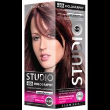 """Kreminiai plaukų dažai """" STUDIO HOLOGRAPHY """" 5.54 Machagonas  50/50/15 ml"""