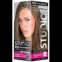 """Kreminiai plaukų dažai """" STUDIO HOLOGRAPHY """" 6.1 Pilkai rusvas  50/50/15 ml"""