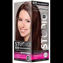 """Kreminiai plaukų dažai """" STUDIO HOLOGRAPHY """" 6.45 Kaštoninė 50/50/15 ml"""