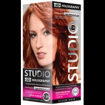 """Kreminiai plaukų dažai """" STUDIO HOLOGRAPHY """" 7.35 Ryškiai varinė  50/50/15 ml"""