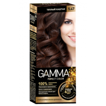 """Patvarūs kremas - dažai """"Gamma perfect color"""" 5.47 šiltas kaštonas"""